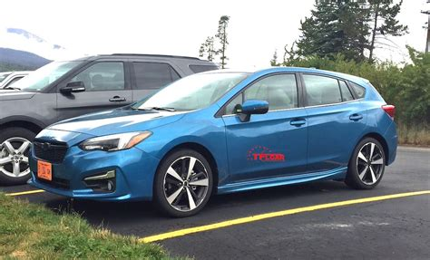 2016 subaru impreza hatchback blue spied in the wild 2017 subaru impreza hatchback the