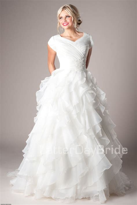 Lds Wedding Dress by Modest Wedding Dresses Mormon Lds Temple Marriage