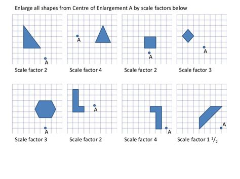enlargements worksheet