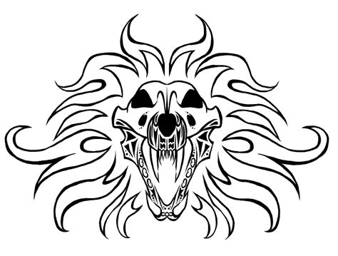 lion skull tattoo skull by evil spark on deviantart