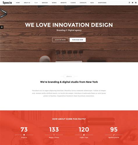 single page parallax template 15 premium one page parallax templates
