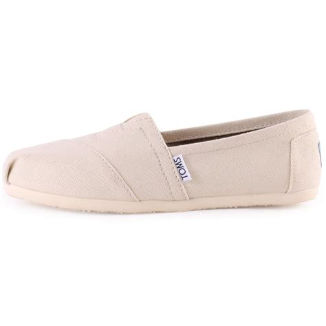 toms classic 2a07 beige canvas slip on mens shoes