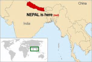 Location Of Nepal In World Map by Nepal Map Nepal Missions