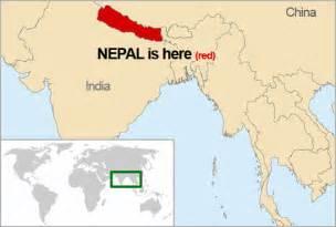 World Map Of Nepal by Nepal World Map