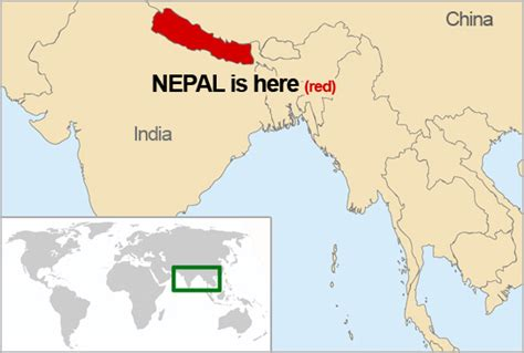 where is nepal on the map nepal world map