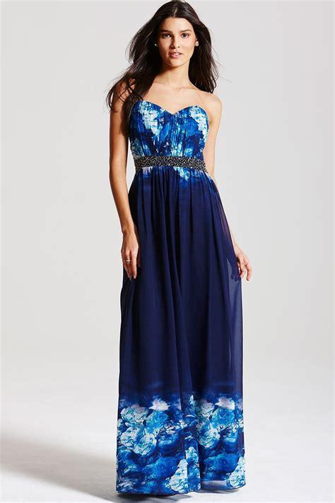 Dress Blue Floral blue floral maxi dress from uk