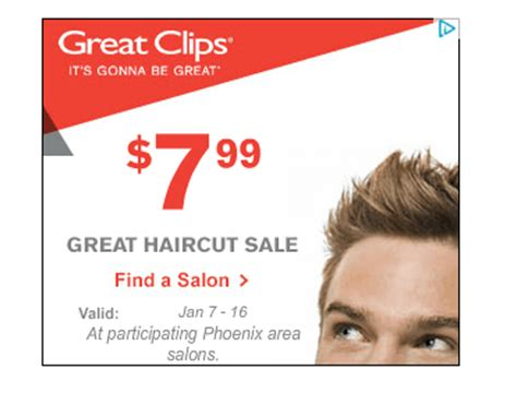 7 99 great clips haircut great clips 7 99 haircut sale phoenix locations