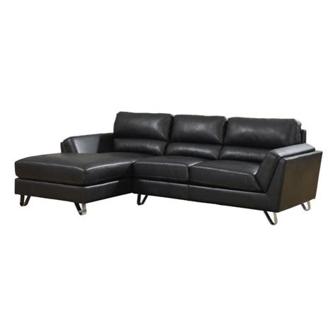 monarch sofa monarch leather sofa lounger in black i8210bk