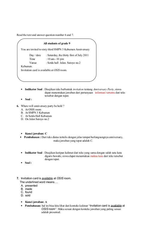 contoh soal announcement contoh now contoh soal bahasa inggris kelas 8 tentang announcement