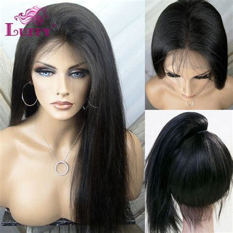 aliexpress human hair 2015 wholesale price straight full lace human hair wigs