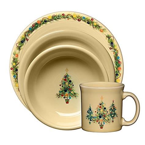 fiesta 174 christmas tree dinnerware collection bed bath