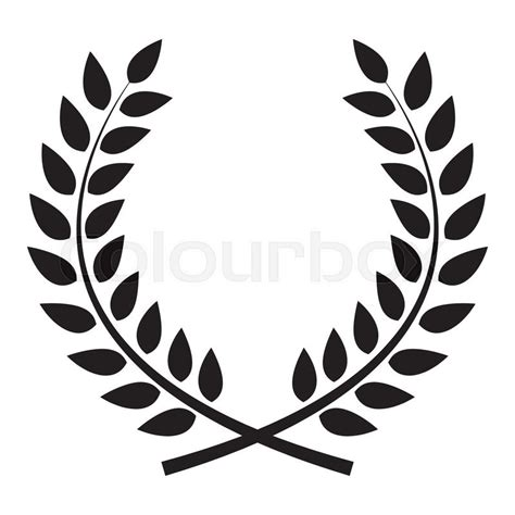 award laurel wreath winner leaf label symbol of victory