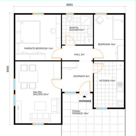 80 square meter 80 square meters house floor plan house plans