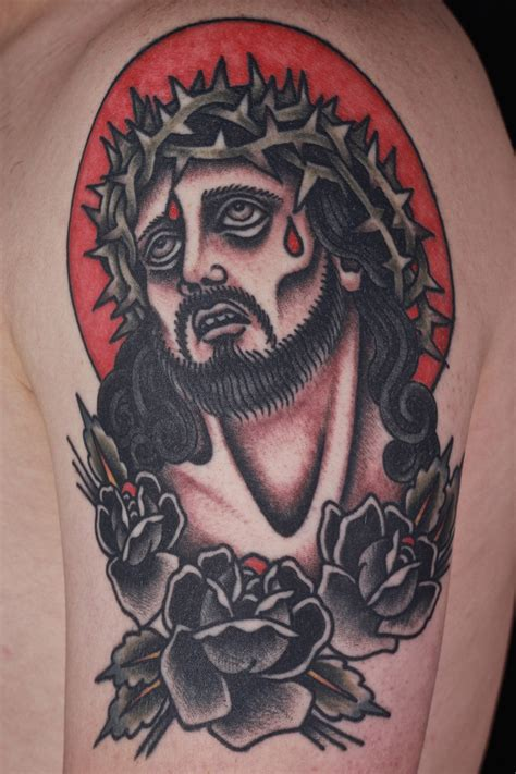 traditional jesus tattoo collection of 25 traditional jesus picture
