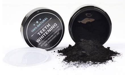 natural charcoal teeth whitening powder groupon