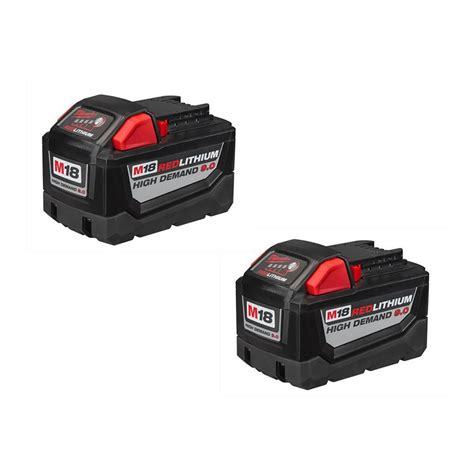 resetting milwaukee battery milwaukee m18 18 volt redlithium high demand 9 0ah battery
