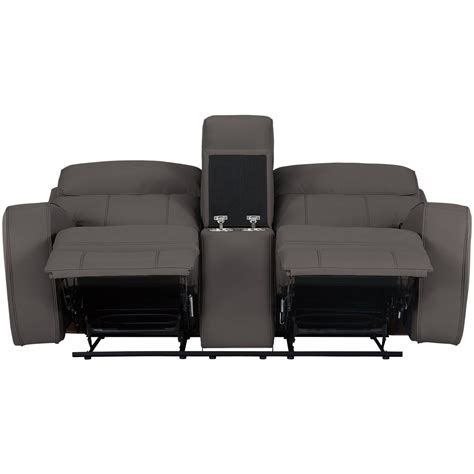 microfiber reclining loveseat with console city furniture rhett gray microfiber power reclining