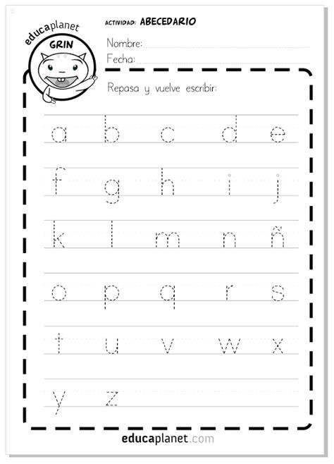 aprender a escribir y leer el n 250 ficha gratis abecedario letras min 250 sculas educaplanet