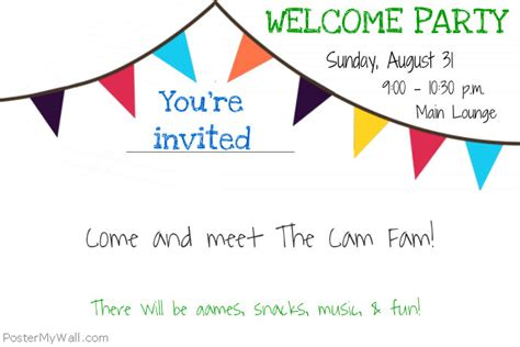 Welcome Party Flyer Template Postermywall Welcome Flyer Template