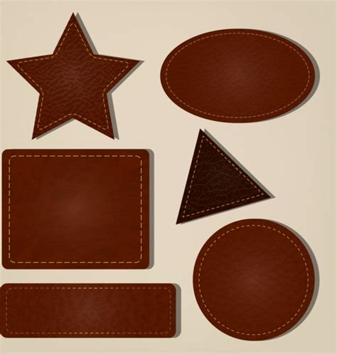 pattern leather illustrator geometric icons collection brown leather pattern