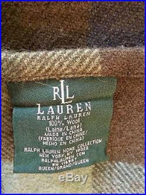 ralph lauren rutherford park comforter ralph rutherford park wool plaid blanket euc 1st