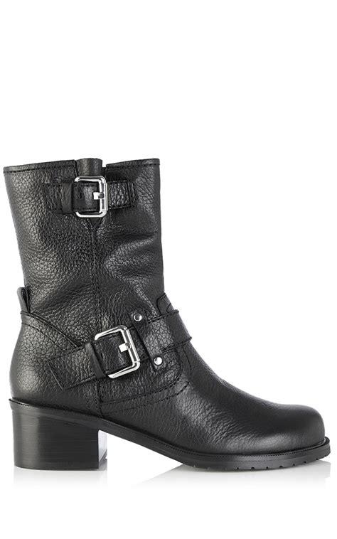 millen ankle biker boot in black lyst