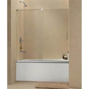 dreamline mirage 60 in x 58 in frameless sliding tub