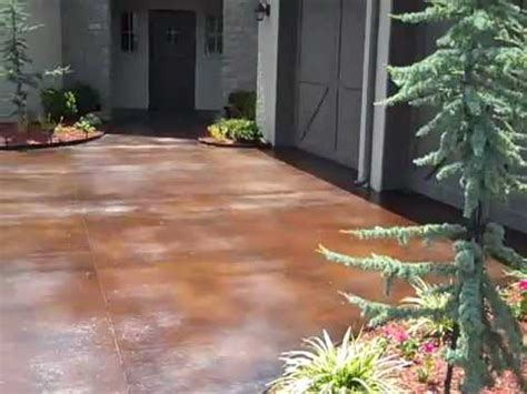 how to clean a stained concrete patio youtube acid stained concrete driveway youtube