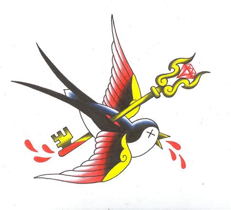 old school sparrow tattoo designs 6 exles of great school flash genres