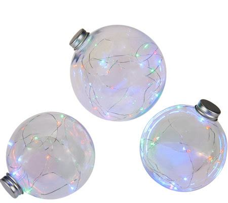 kringle express s 3 graduated indoor outdoor clear globes w micro lights page 1 qvc