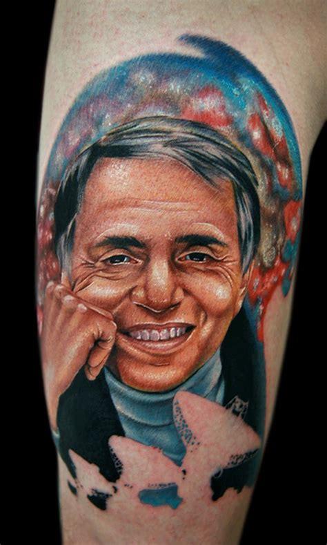 carl sagan tattoo carl sagan by cecil porter tattoos