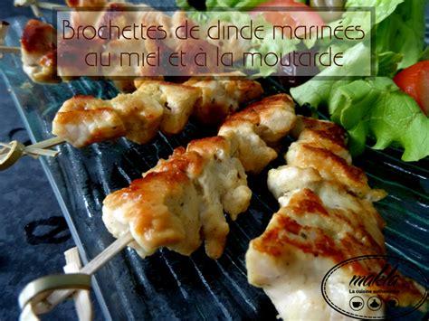 駘駑ent de cuisine ind駱endant brochettes de dinde marin 233 es au miel et 224 la moutarde