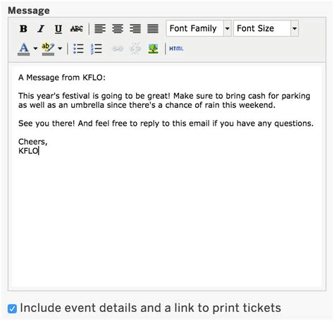 Friendly Reminder Email Template Release Snapshot Message Emails Attendees Edit The Of Your Keep In Touch Email Template