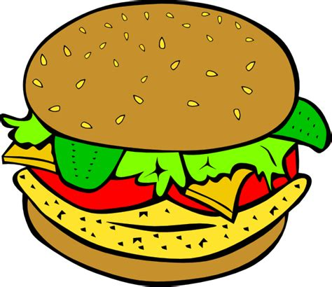 clipart food fast food lunch dinner ff menu clip at clker