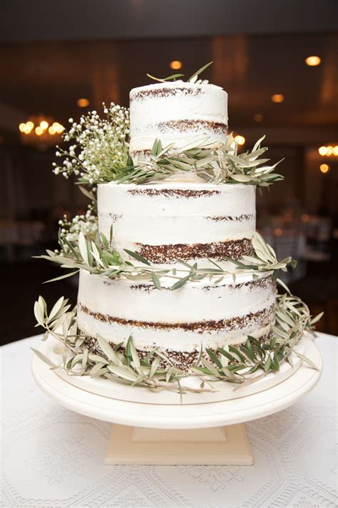 Wedding Cake Greenery by At Home Wedding Natalie Atlanta