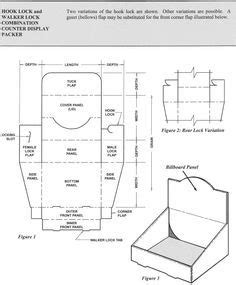 Pin By Jim Riley On Box Templates Pinterest Box Templates And Template Cardboard Counter Display Template