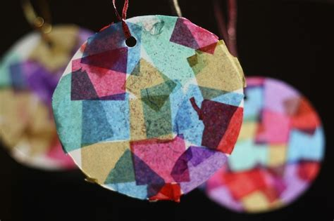 mosaic christmas ornaments happy hooligans kids