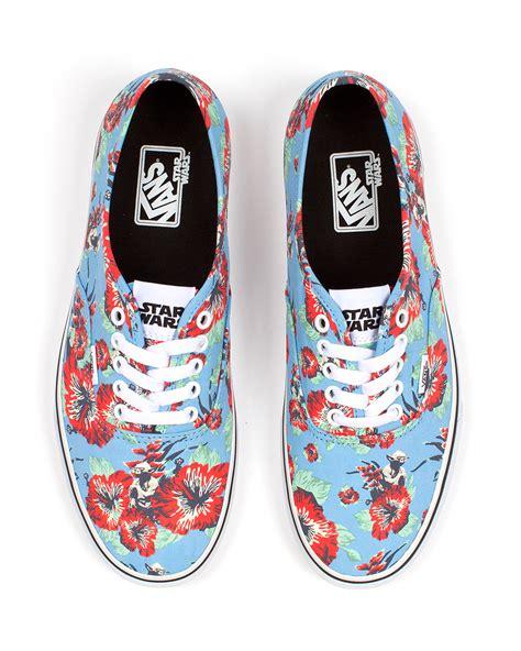 vans flower pattern shoes star wars x vans