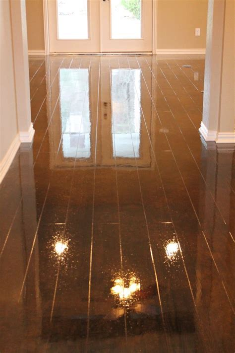 Concrete floors look like wood! To see more photos visit