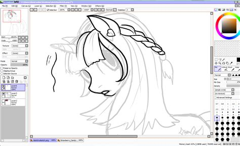 artwork by kimicookie paint tool sai tutorial my pony edition