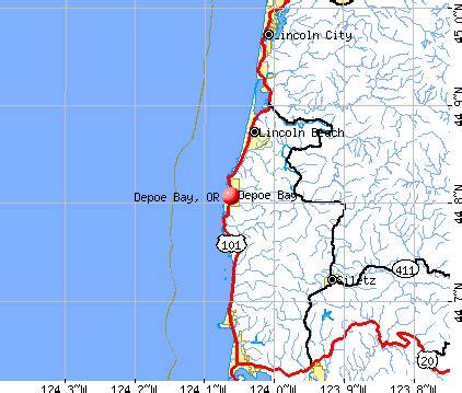 depoe bay oregon or 97341 profile population maps