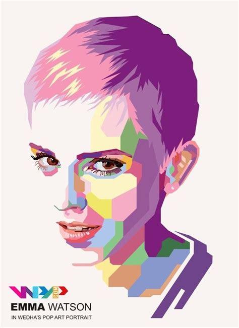 Pop Portrait Artists Wpap Wedha S Pop Portrait By Widi Kurniawan Via