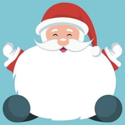 christmas card  santa claus sitting  white background  write christmas sign snow png