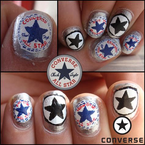 easy nail art converse converse nails by ninails on deviantart