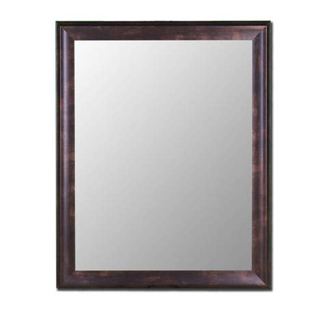 Hitchcock Butterfield 30 Quot X 42 Quot Espresso Walnut Framed Menards Bathroom Mirrors