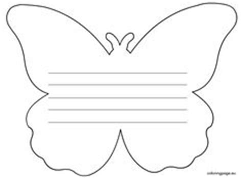 butterfly writing paper s day on flower template s day