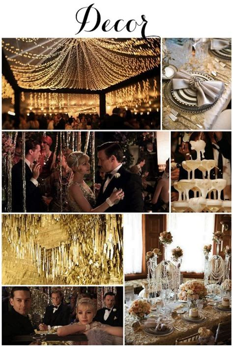 great gatsby themes time great gatsby 1920s art deco wedding inspiration on