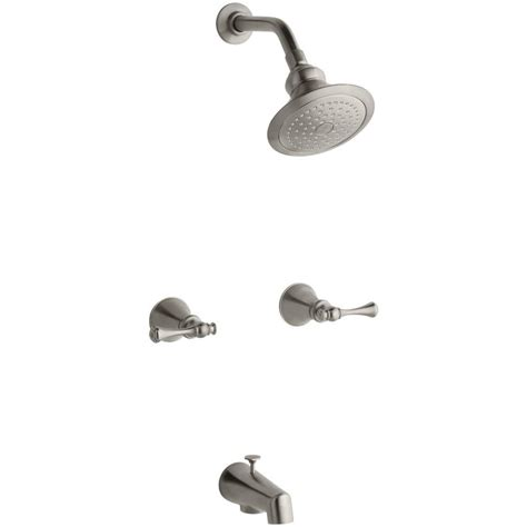 1 Handle Shower Faucet by Kohler Revival 2 Handle 1 Spray Tub And Shower Faucet In