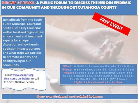 Heroin Detox Forum by Community Forum On Heroin Addiction South Euclid Court