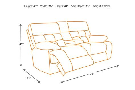 recliner dimensions darshmore glider reclining loveseat with console ashley